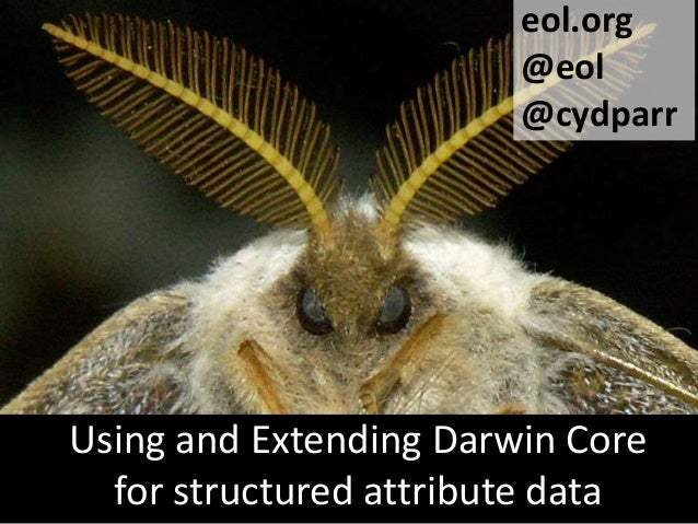 eol.org @eol @cydparr  Using and Extending Darwin Core for structured attribute data