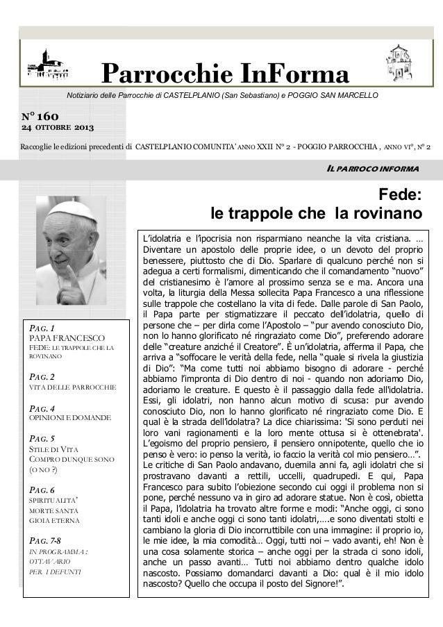 dei doni di Dio  Parrocchie InForma  Notiziario delle Parrocchie di CASTELPLANIO (San Sebastiano) e POGGIO SAN MARCELLO  N...