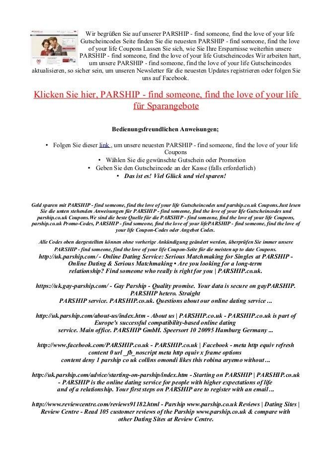 gutscheincode parship