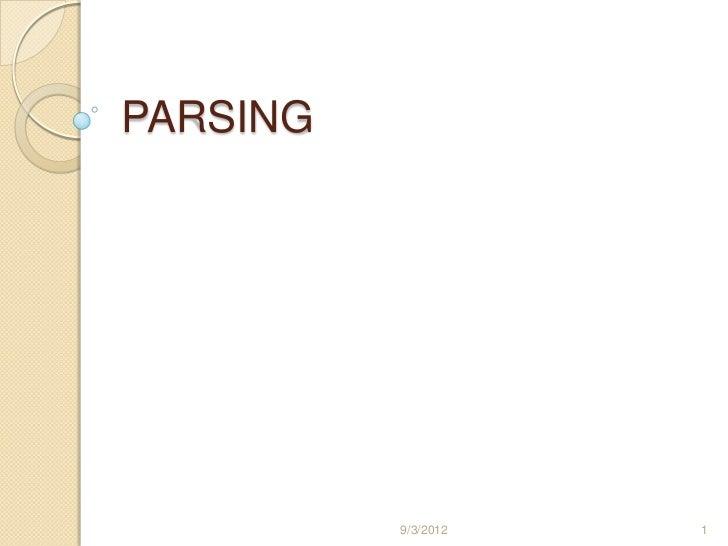 PARSING          9/3/2012   1
