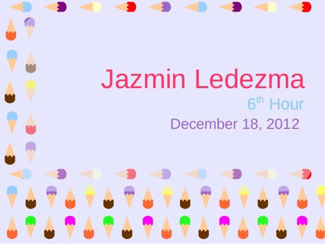Jazmin Ledezma's College/University Research Project