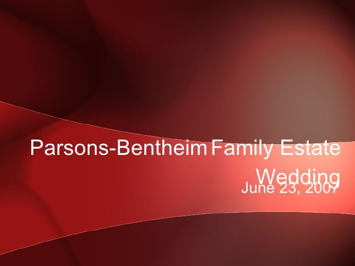 Parsons Bentheim Family Estate Wedding