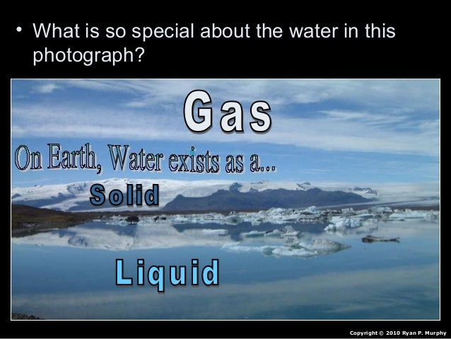 Properties of Water Lesson PowerPoint, pH, High Specific Heat