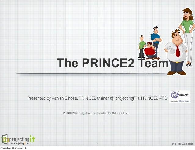 PRINCE2 Organization Theme - PRINCE2 Project Management Team - ProjectingIT APMG ATO