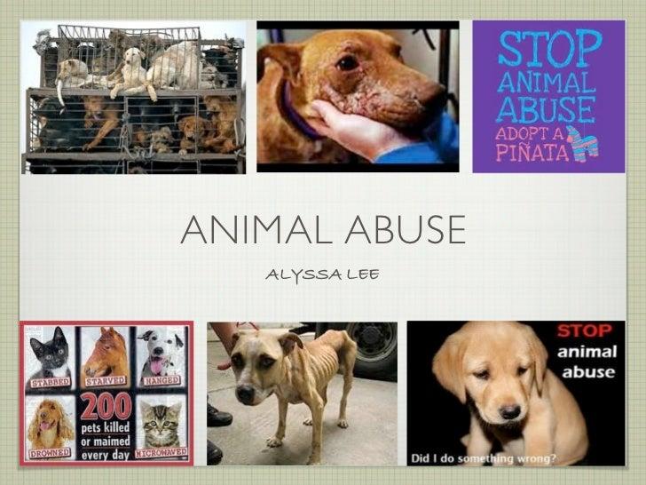 ANIMAL ABUSE   ALYSSA LEE