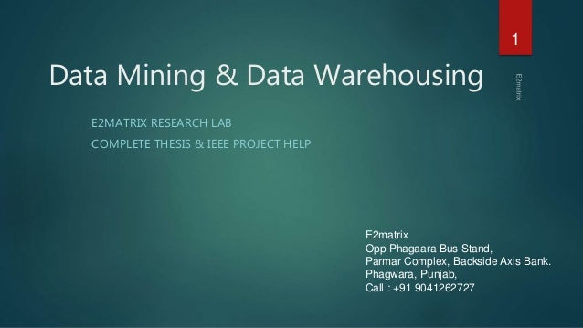 Thesis on data mining in higher education