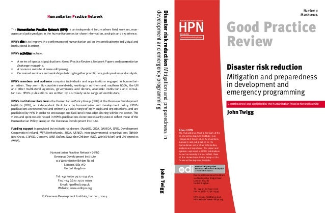 GPR cover 2004(2)  9/3/04  10:36 am  Page 1  The Humanitarian Practice Network (HPN) is an independent forum where field w...