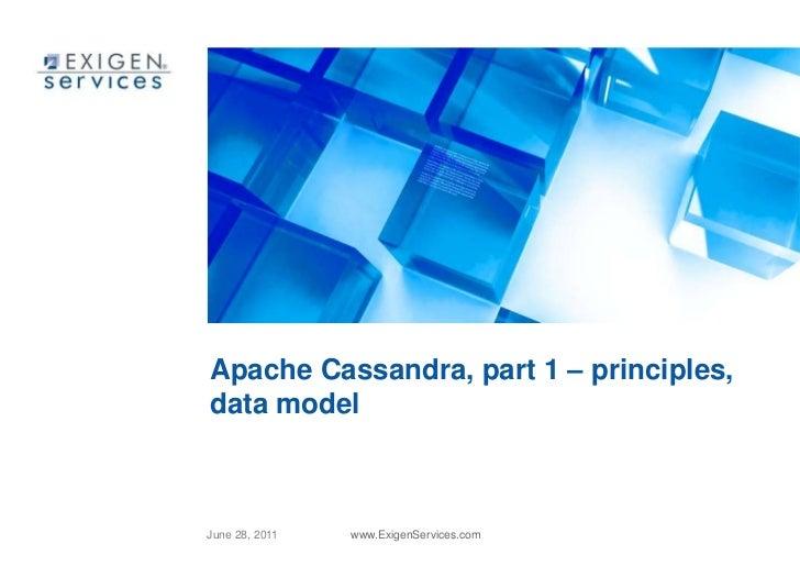 Apache Cassandra, part 1 – principles, data model<br />