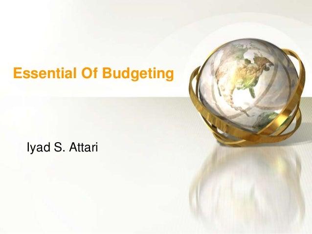 Essential Of Budgeting Iyad S. Attari