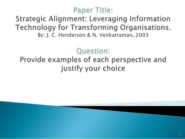 Strategic Alignment Model presentation