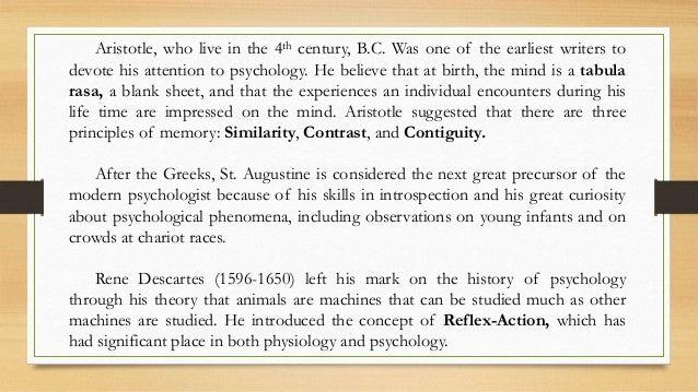 the mind is born tabulasa rasa John locke (1632-1704) he asserted that at birth the human mind is a blank slate, or tabula rasa, and empty of ideas (see scaffolding below.