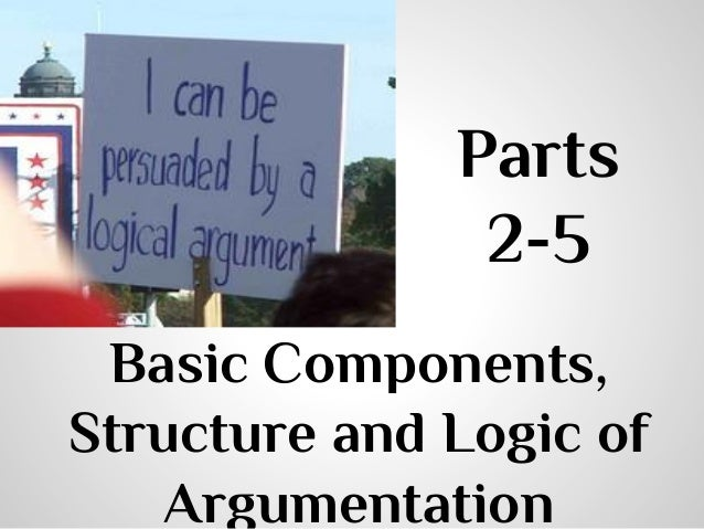 Parts 2-5 Basic Components, Structure and Logic of Argumentation