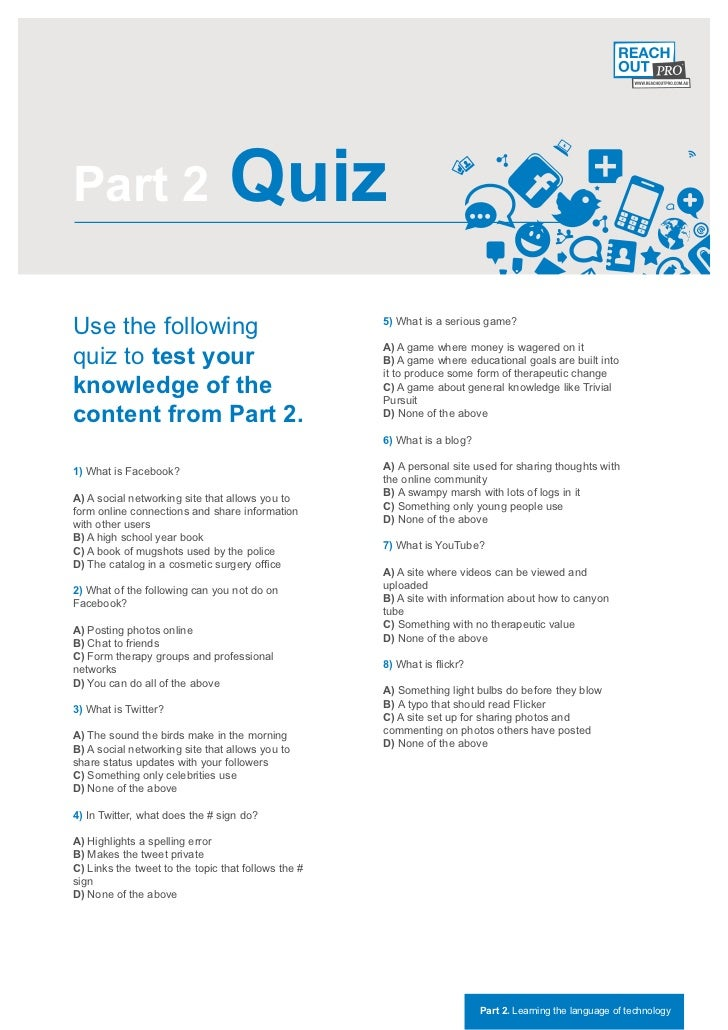 Part 2                           QuizUse the following                                    5) What is a serious game?quiz t...
