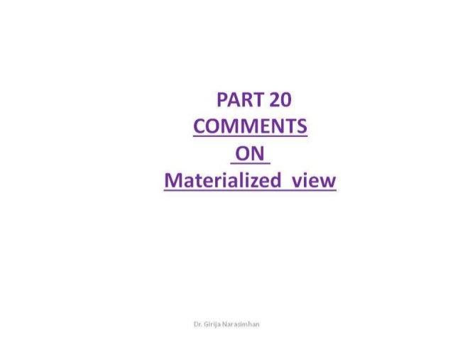 Part 20 comments on mv