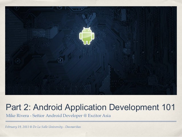 Part 2 android application development 101