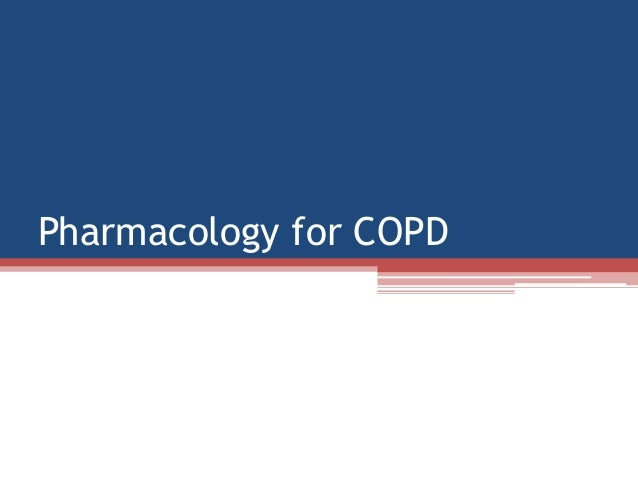 Pharmacology for COPD