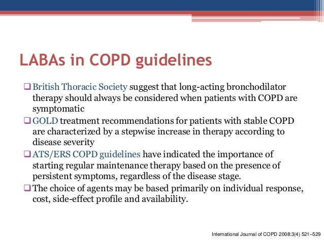 british thoracic society copd guidelines