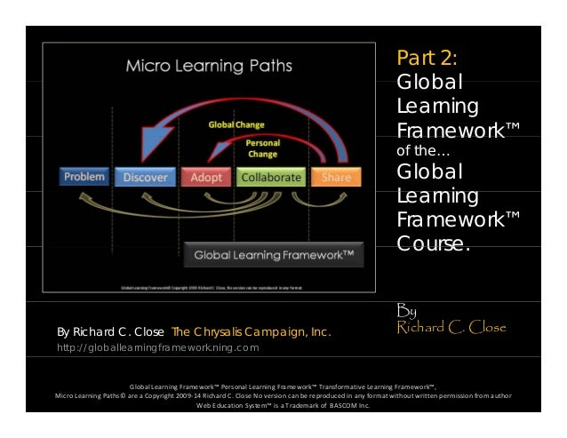 Part 2: GlobalGlobal Learning Framework™Framework of the… Global L iLearning Framework™ CourseCourse. By Richard C. Close ...