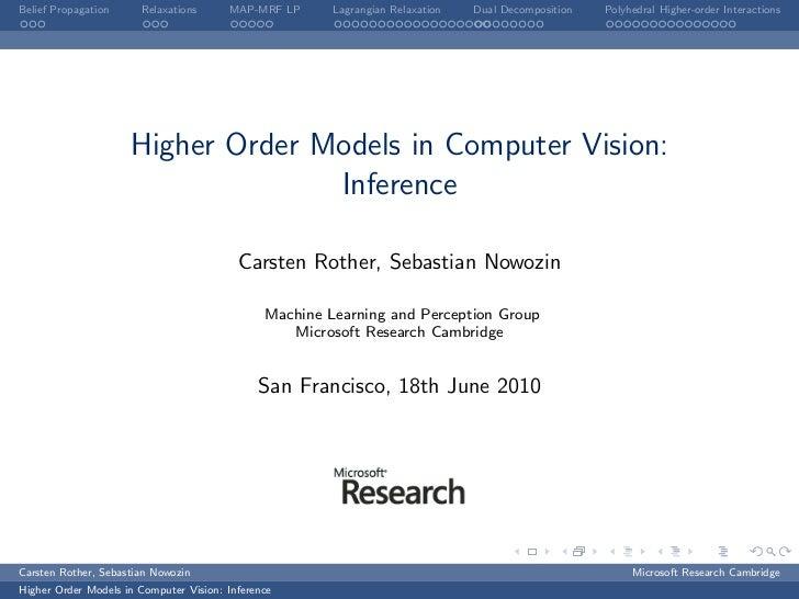 CVPR2010: higher order models in computer vision: Part 3
