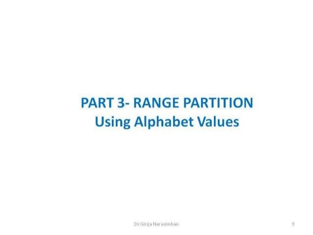 Part3 range partition alphabet