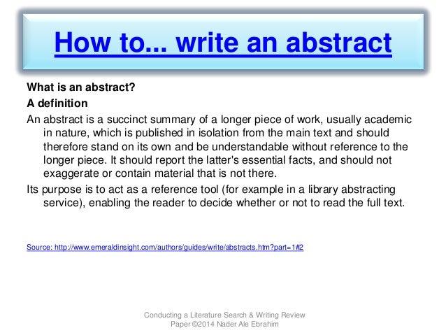 how to write an analysis