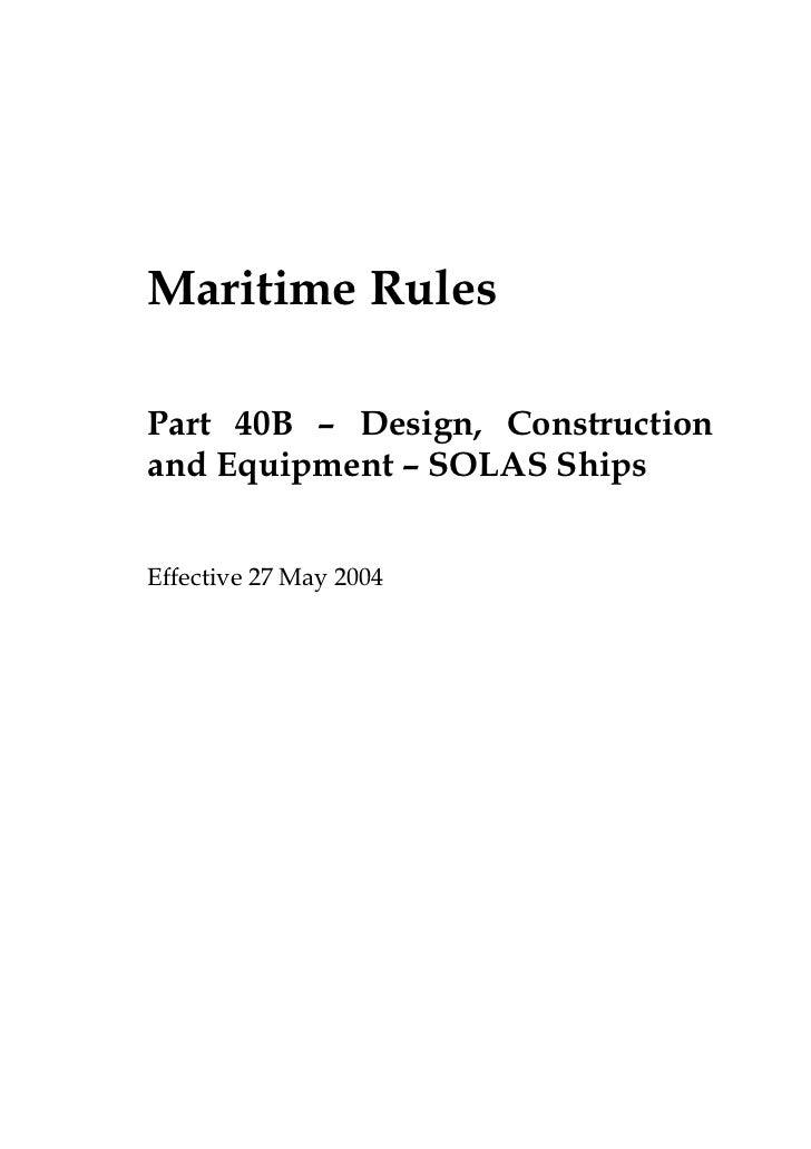 Part40 b maritime-rule
