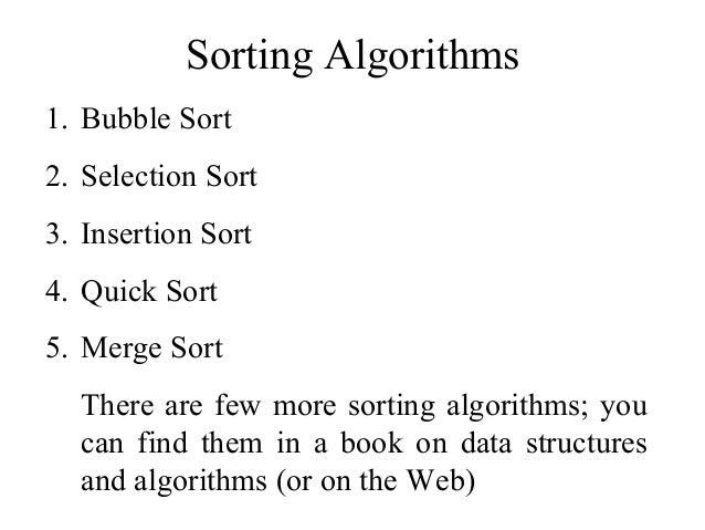 Data Structures- Part4 basic sorting algorithms