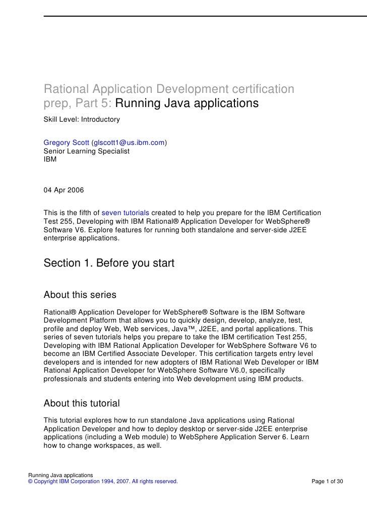 Part 5 running java applications