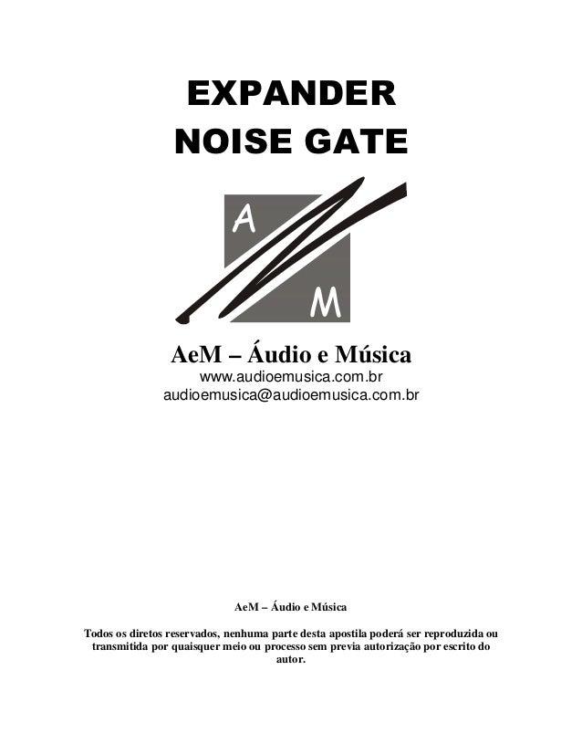 (;3$1'(5 12,6(*$7(   AeM – Áudio e Música www.audioemusica.com.br audioemusica@audioemusica.com.br AeM – Áudio e Música To...