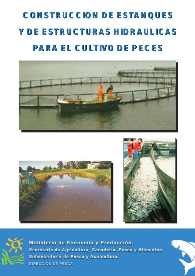 Construcci n de estanques for Proyecto de cria de peces en estanques