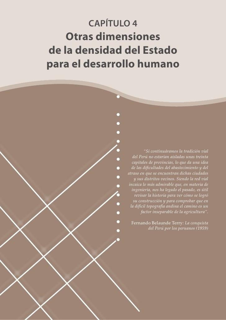 Parte 1: Capítulo 4: Otras Dimensiones de la Densidad del Estado para el Desarrollo Humano