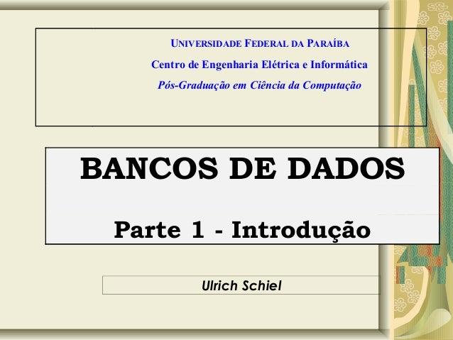 MODELOS DE DADOS - Parte 1 introdução