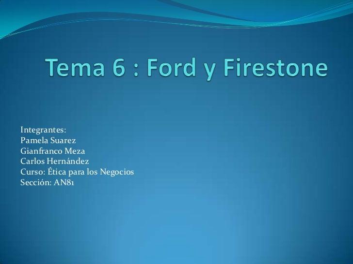 Integrantes:Pamela SuarezGianfranco MezaCarlos HernándezCurso: Ética para los NegociosSección: AN81