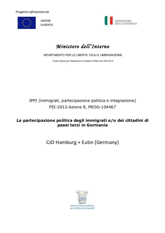 Partecipazione Politica dei Cittadini Migranti in Germania