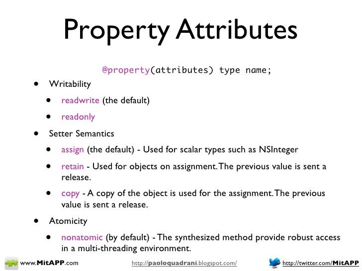 Properties - Ry s Objective-C Tutorial - RyPress