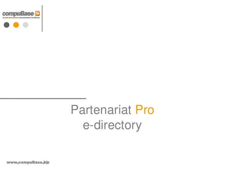 Partenariat Proe-directory<br />