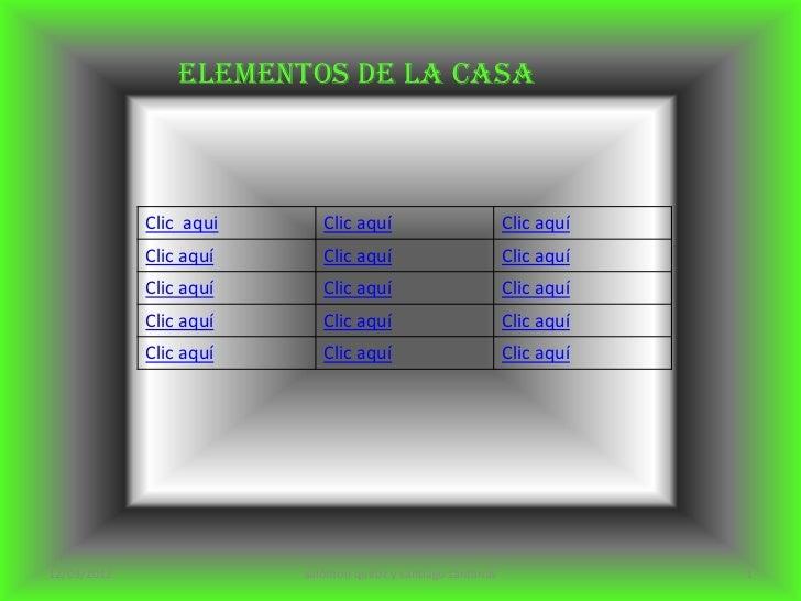 Elementos de la casa             Clic aqui      Clic aquí                         Clic aquí             Clic aquí      Cli...