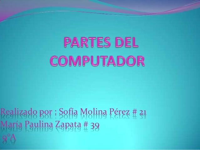 Realizado por : Sofía Molina Pérez # 21 María Paulina Zapata # 39 9°A