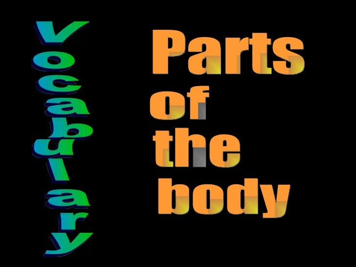 Vocabulary Parts  of the body