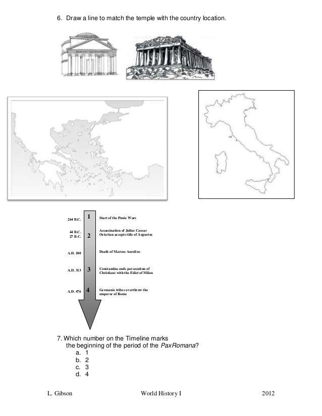 Parthenon Pantheon Worksheet