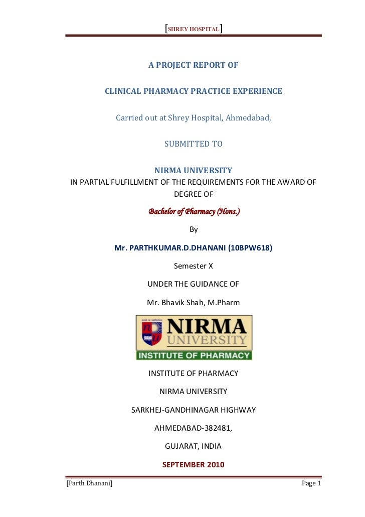 Clinical Pharmacy Practice Experience