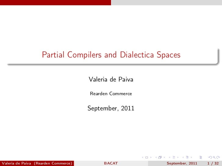 Partial Compilers