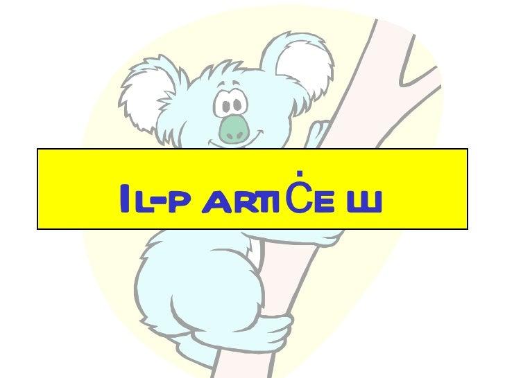 Il-p artiċe lli