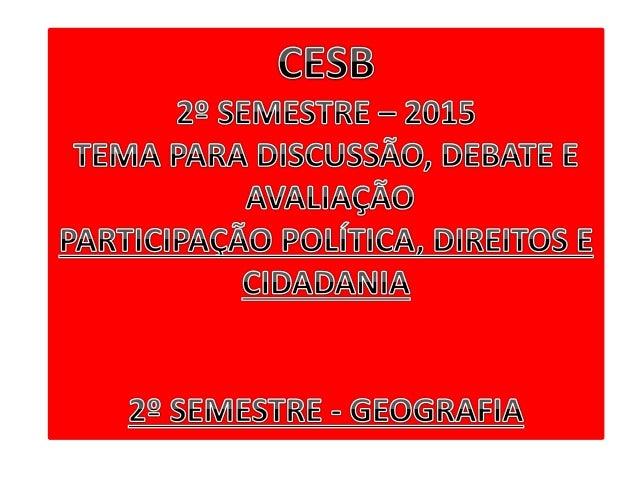 GEOGRAFIA/SOCIOLOGIA PROFESSOR: JÚLIO S. CAMPOS