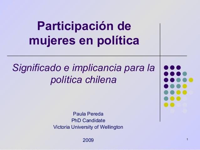 Participación de Mujeres en Política