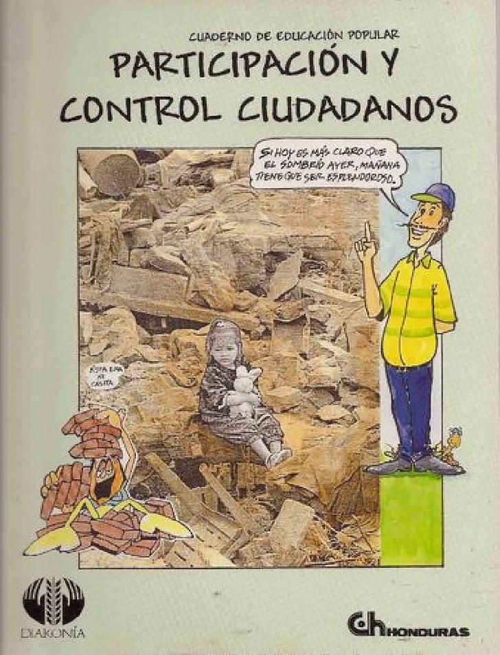 Participación y control ciudadano