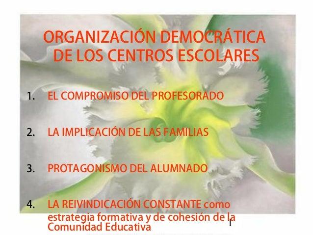 Organització democràtica dels Centres escolars
