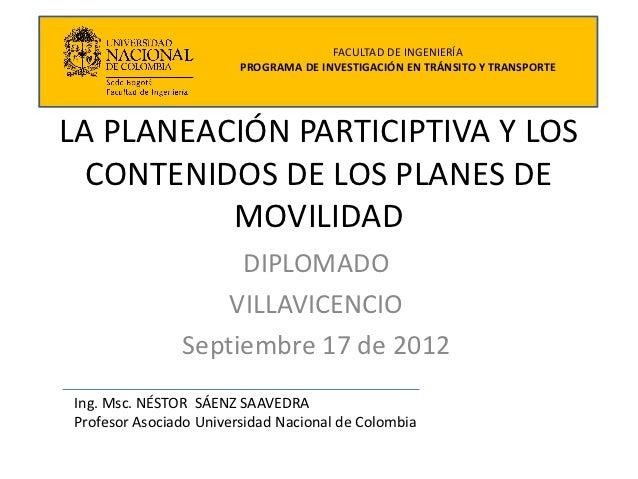 Participacion En Los Planes De Movilidad