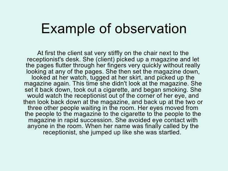 Observation Essays