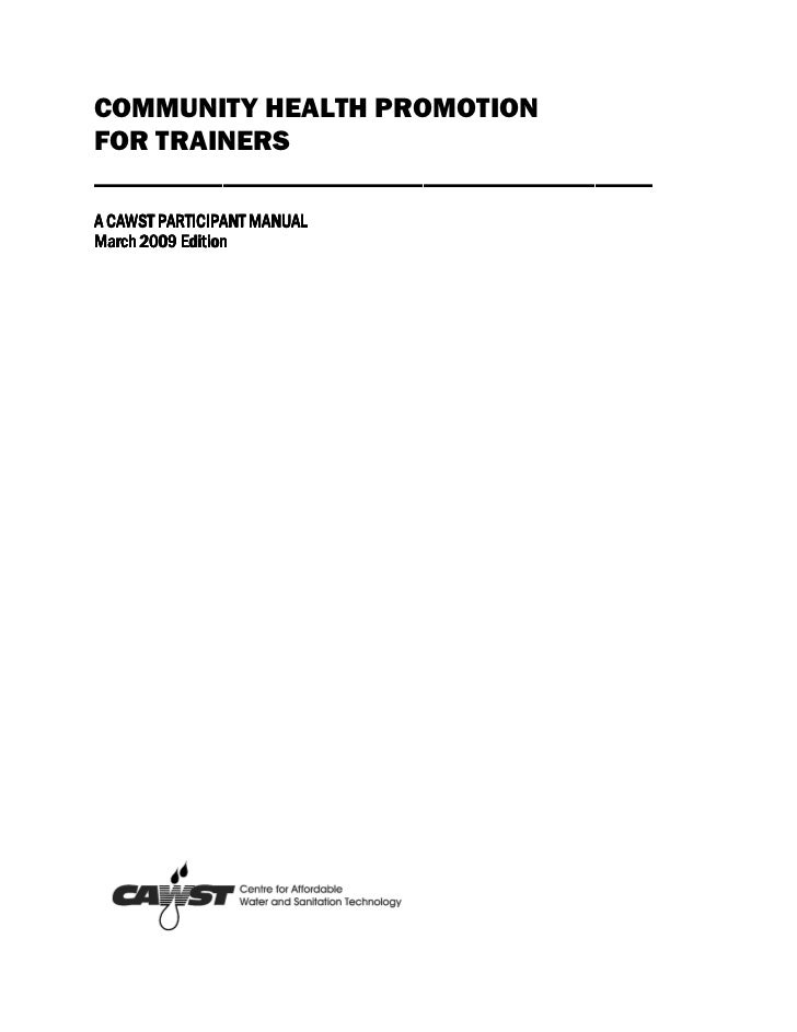 Participant manual chp for trainers mar 09-1
